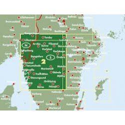 Svédország 2 Délnyugat - Göteborg-Vänersee-Karlstad, 1:250 000  Freytag térkép AK 0668