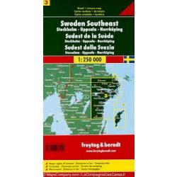 Svédország 3 Délkelet - Stockholm-Uppsala-Norrköping, 1:250 000  Freytag térkép AK 0669