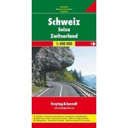 Svájc térkép keményborítóban, 1:400 000  Freytag térkép AK 0301