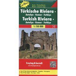 Török Riviéra térkép - Antalya - Kemer-Fethiye,  Top 10 tipp, 1:150 000  Freytag térkép AK 6001