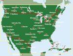 USA - Dél-Kanada, 1:4 000 000  Freytag térkép AK 116
