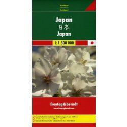 Japán, 1:1 300 000  Freytag térkép AK 119