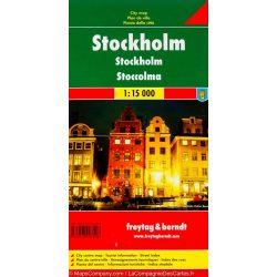 Stockholm térkép Freytag & Berndt 1:15 000