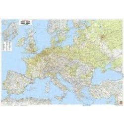 Európa falitérkép, Európa közlekedése fóliás falitérkép Freytag 1:3 500 000 (126 x 89,5 cm)