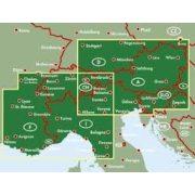 Alpok országai, 1:500 000 Freytag térkép AK 2701