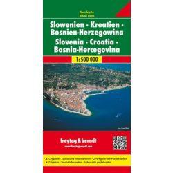 Horvátország, Szlovénia térkép, Bosznia térkép Horvátország térkép Freytag & Berndt 1:500 000  2018