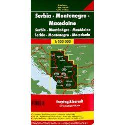 Szerbia-Montenegró-Macedónia térkép 1:500 000  Freytag AK 7003