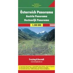 Ausztria panoráma térképe, 1:500 000 Freytag térkép AK 1PAN