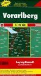 Vorarlberg térkép,  Top 10 tipp, 1:100 000  Freytag térkép OE 88