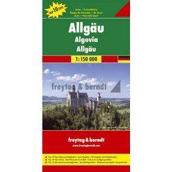 Allgäu, Top 10 tipp, 1:150 000 Freytag térkép DEU 1