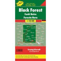 Fekete-erdő térkép, Schwarzwald térkép Top 10 tipp térkép  1:150 000  Freytag térkép DEU 3