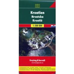 Horvátország térkép Freytag & Berndt 1:500 000  AK 7002   2018