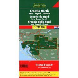 Észak-Horvátország térkép, Isztria, Zágráb, Szlavónia térkép  1:200 000  Freytag térkép AK 7402