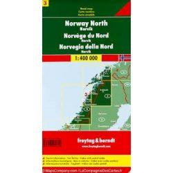 Norvégia térkép 3 Észak-Norvégia-Narvik, 1:400 000  Freytag térkép AK 0657