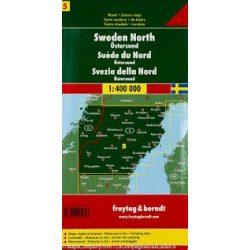 Svédország 5 Észak-Svédország-Östersund, 1:400 000  Freytag térkép AK 06611