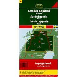 Svédország 6 Lappföld-Kiruna, 1:400 000  Freytag térkép AK 06612