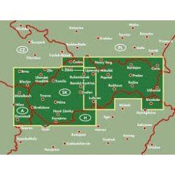 Szlovákia térkép keményborítóban, 1:200 000  Freytag  AK 7501