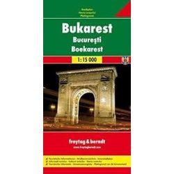Bukarest térkép Freytag & Berndt 1:15 000