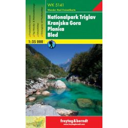 WK 5141 Nationalpark Triglav, Kranjska Gora, Planica, Bled turistatérkép 1:35 000