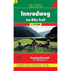 RK 2 Inn kerékpárút Innradweg kerékpáros térkép Freytag & Berndt 1:125 000