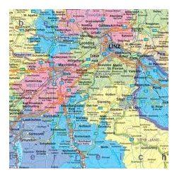 Ausztria választókerületei, 1:500 000 hajtott Freytag térkép VKÖ