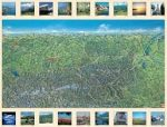 Ausztria panoráma falitérkép fémléces, műanyaghengerben, (119 x 88 cm) Freytag térkép AK 1 PAN B