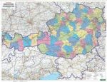 Ausztria választókörzetei fémléces, műanyaghengerben, 1:500 000, (122 x 84 cm) Freytag térkép VKÖ B
