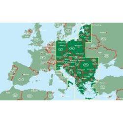 Kelet-Európa útvonaltervező atlasz 1:700 000  Freytag térkép EECRA RO