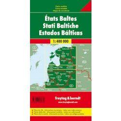 Balti államok térkép, Észtország, Lettország, Litvánia  1:400 000 Freytag  Baltikum térkép