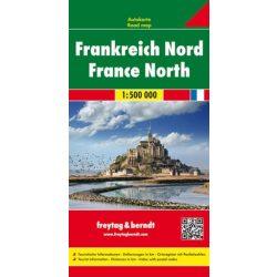 Franciaország észak térkép  1:500 000  Freytag térkép AK 0405