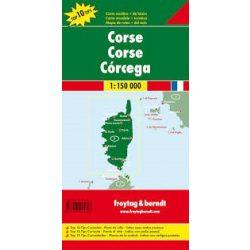 Korzika térkép, Top 10 tipp, 1:150 000  Freytag AK 0407