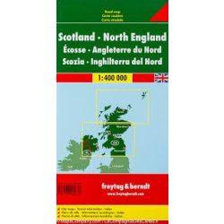 Skócia, Észak-Anglia térkép 1:400 000  Freytag  AK 0288