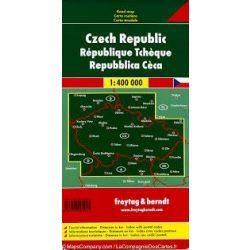 Csehország térkép, 1:400 000  Freytag térkép AK 7603