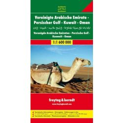 Egyesült Arab Emírség - Omán - Perzsa-öböl, 1:1 600 000  Freytag térkép AK 128
