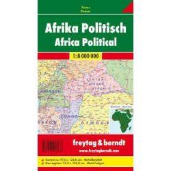 Afrika politikai-domborzati térkép fémléces, műanyaghengerben, 1:8 000 000 Freytag térkép AFR B