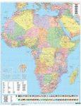 Afrika falitérkép politikai-domborzati térkép, műanyaghengerben, 1:8 000 000 Freytag AFR P