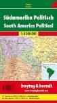 Dél-Amerika falitérkép politikai-domborzati fémléces, műanyaghengerben, 1:8 000 000  Freytag térkép SAM B