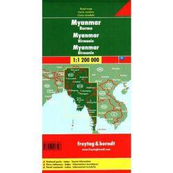 Mianmar-Burma térkép 1:1 200 000  Freytag AK 132