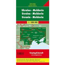 Ukrajna térkép, Moldova térkép 1:1 000 000  Freytag AK 6801