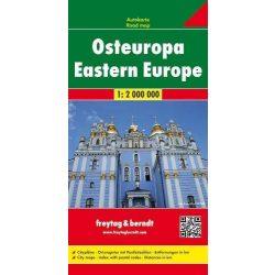 Kelet-Európa térkép 1:2 000 000  Freytag 2017