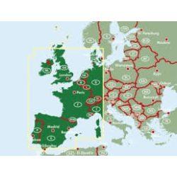 Nyugat-Európa térkép Freytag & Berndt 1:2 000 000  AK 2005