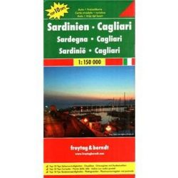 Szardínia térkép - Cagliari,  Top 10 tipp, 1:150 000  Freytag térkép AK 0617