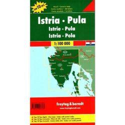 Isztria térkép, Pula, Top 10 tipp, 1:100 000  Freytag térkép AK 7405