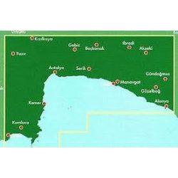 Török Riviéra térkép  - Antalya - Side -Alanya,  Top 10 tipp, 1:150 000  Freytag térkép AK 6002
