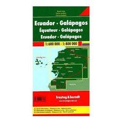 Ecuador térkép, Galápagos térkép Freytag 1:600 000, 1:800 000