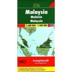 Malajzia, 1:600 000 - 1:900 000  Freytag térkép AK 136