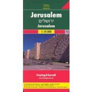 Jeruzsálem térkép  1:10 000 Jeruzsálem várostérkép Freytag