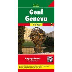Genf térkép Freytag 1:10 000