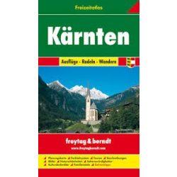 Karintia szabadidőatlasz, 1:50 000-1:200 000  Freytag térkép FA K