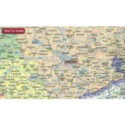 Németország választókörzetei falitérkép fémléces, műanyaghengerben, 1:700 000  Freytag térkép VKD B